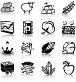 Natural resources icons — Stock Vector