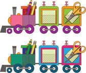 Train toy. Coloring book. Vector. — Stock Vector