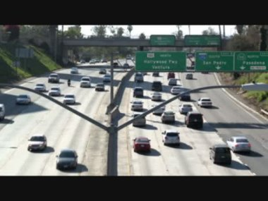 Los Angeles Freeway Traffic - Time Lapse — Stock Video