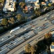 aerial view of los angeles freeway, highway — Stock Video