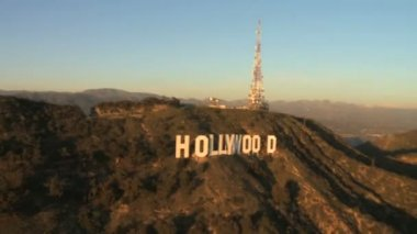 Aerial View of the Hollywood Sign - Los Angeles — Stock Video