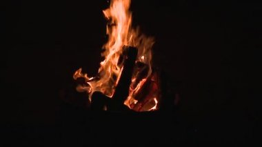 Slow Motion Of Camp Fire — Stock Video