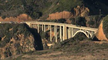 Time Lapse of the bridge at Big Sur California — Stock Video