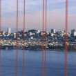 Stock Video: Time Lapse of San Fran between Golden Gate Bridge Sunset