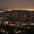Panning Time Lapse of San Francisco Grid at Night - Stock Photo