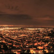Royalty-Free Stock Vector Image: City of San Francisco at Night from Twin Peaks