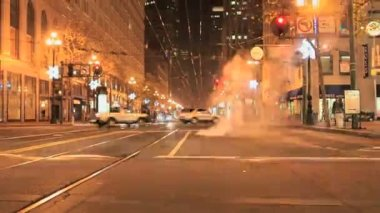 Time lapse San Francisco City Streets at Night — Stock Video