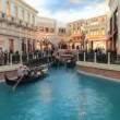 Time Lapse of the Venetcian Canals Las Vegas - Stock Photo