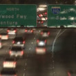 Time Lapse of Streaking Traffic on the 101 Freeway at Night  Los Angeles — Stock Video