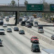 Time Lapse of  Freeway Traffic in Downtown Los Angeles - Zdjęcie stockowe