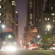 Time Lapse of Traffic at Night in Downtown Los Angeles — Vídeo Stock