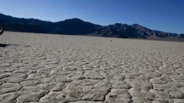 Pan of Desert Floor - Death Valley — Stock Video