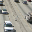 Tilt Shift of Heavy Traffic in Los Angeles — Stock Video