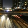Time Lapse of Freeway Traffic at Night in Los Angeles California — Stockvideo