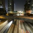 Time Lapse of Freeway Traffic at Night in Los Angeles California — Stock Video