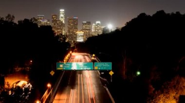 Time Lapse of Downtown Los Angeles with Traffic — Stock Video