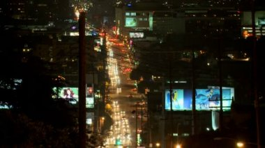 Busy Urban Hollywood Traffic - Time Lapse — Video Stock