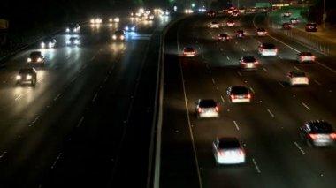 Motorväg 101 i los angeles — Stockvideo