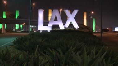 Time Lapse of the LAX Airport Sign — Stock Video