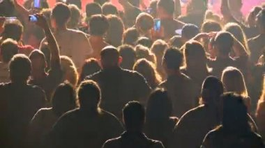 Time Lapse of Crowd at Rock Concert — Stock Video