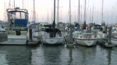 Time Lapse of Boats in San Francisco Bay — Stock Video