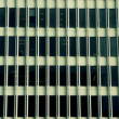 Pan of Office Building Windows — Vídeo de stock