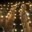 Traffic on the Busy Freeway at Night - Time Lapse — Vídeo Stock