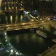 Chicago Overview at Night — Stock Video