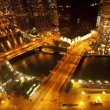 Overhead View of Downtown Chicago - Time Lapse — Stock Video