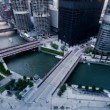 Downtown Chicago River — Stock Video