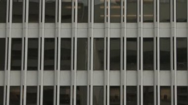 Pan of Office Building Windows — Stock Video