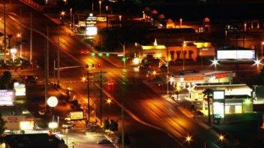 Las vegas trafik - zaman sukut yükü — Stok video