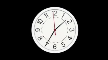 Time Lapse of Standard Time Clock — Stock Video