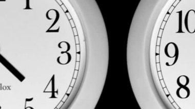 Time-lapse - horloges — Vidéo