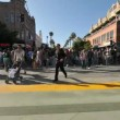 Stock Video: Busy Crosswalk in Big City