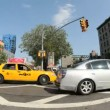 Stock Video: NYC Intersection - Fisheye - Time Lapse