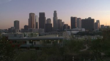 Downtown Los Angeles City at Sunset - Time Lapse — Stock Video