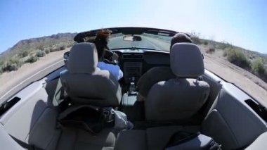 Desert Driving - Rear Camera Mount Time Lapse — Stock Video