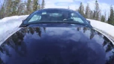 Front Mounted Driving Cam - Time Lapse. — Stock Video