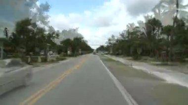 Tropische rijden - dak gemonteerde auto cam — Stockvideo
