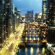 Stock Video: Chicago Tilt Shift at Evening