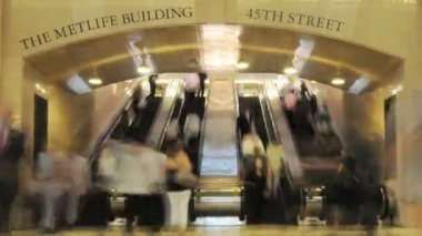 Bahnhof grand central station-zeitraffer — Stockvideo