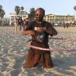 Guy with Hula Hoop — Stock Video