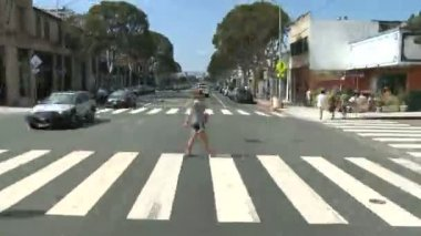 Time lapse of Driving in Santa Monica CA - Roof Mounted Camera — Stock Video