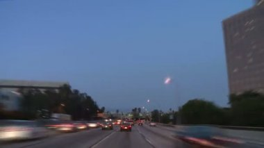 Los Angeles - Car Mounted Camera - Timelapse — Stock Video