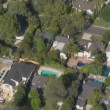 Stock Video: Aerial View of Los Angeles Suburbs California