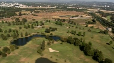 Aerial View of Golf Course — Stock Video