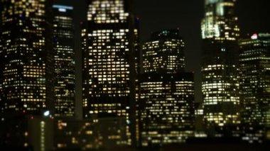 Tilt Shift - Downtown Los Angeles Skyline — Stock Video
