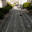 Downtown Los Angeles Traffic - Tilt Shift - Stock Photo