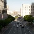 Downtown Los Angeles Freeway Tilt Shift — Vídeo de stock